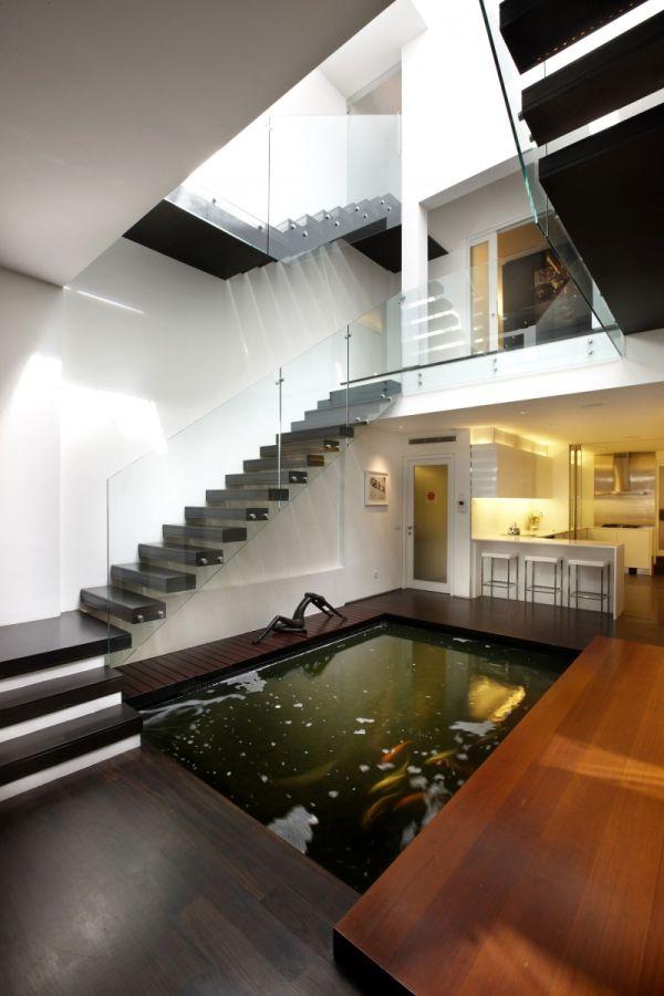 Mẫu hồ cá Koi hiện đại trong nhà 5