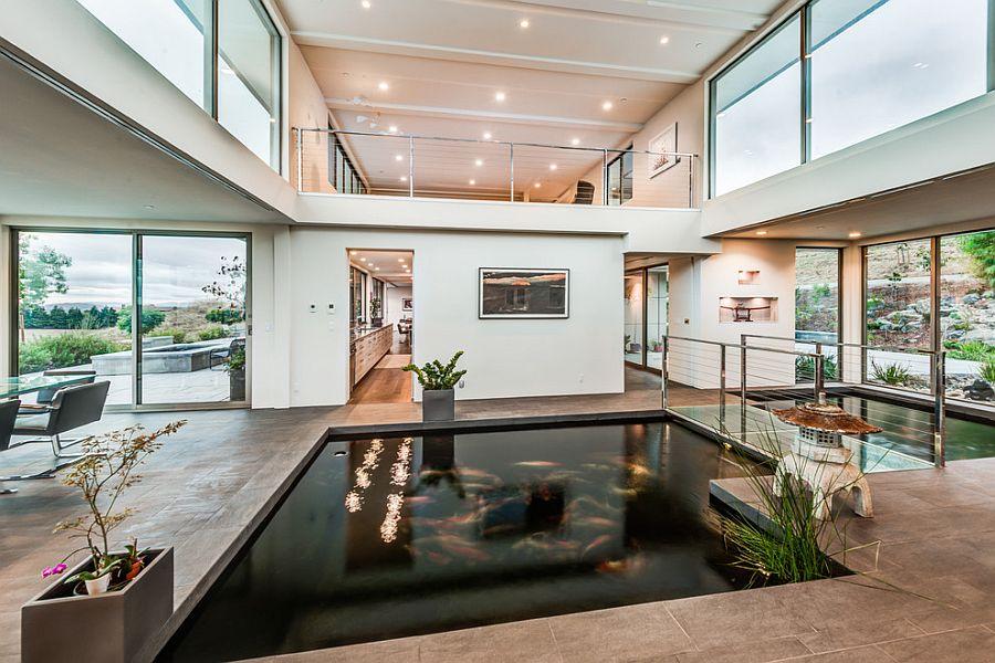 Mẫu hồ cá Koi hiện đại trong nhà 6