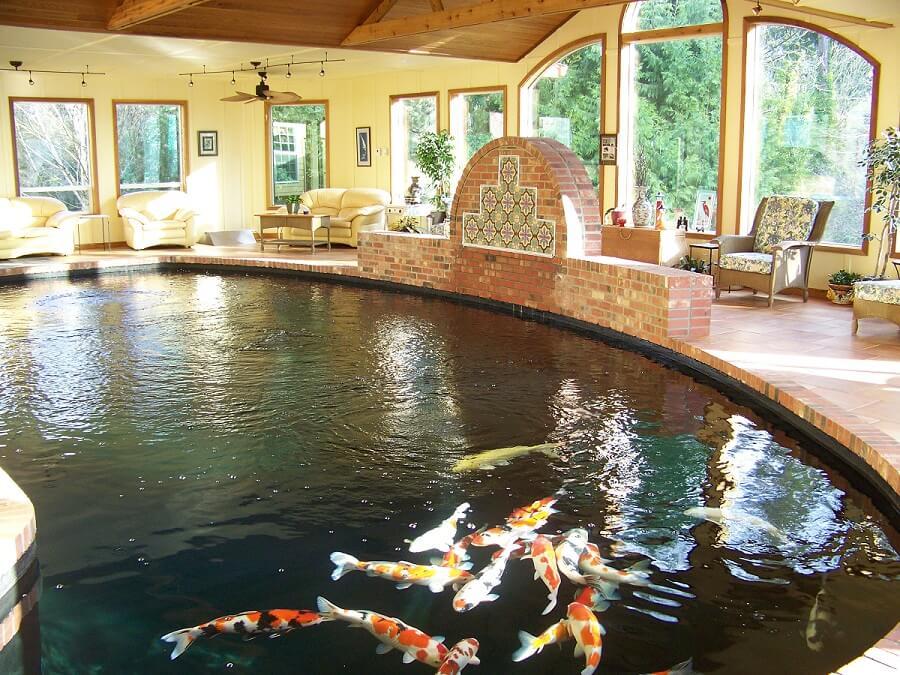 Mẫu hồ cá Koi hiện đại trong nhà 3