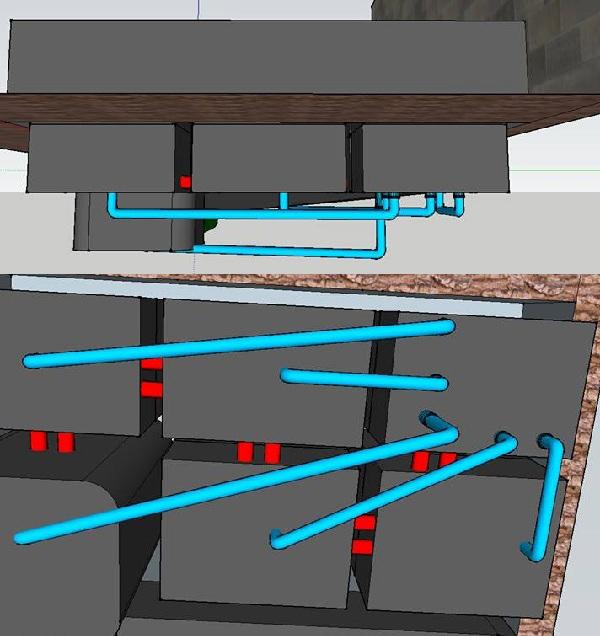 Hệ thống đường đi ống cơ bản cho hồ cá Koi